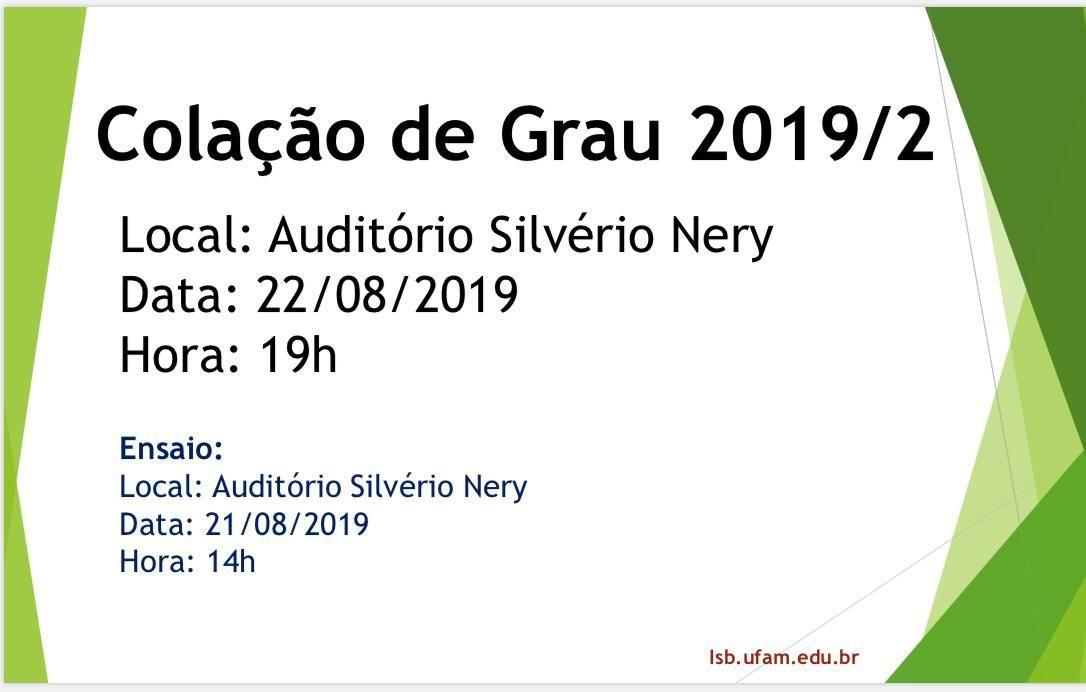 Colação de Grau 2019/2